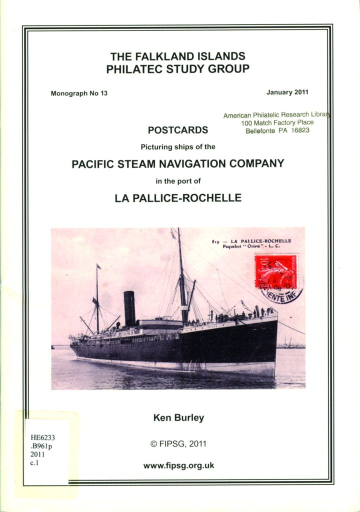 Postcards Picturing Ships of the Pacific Steam Navigation Company