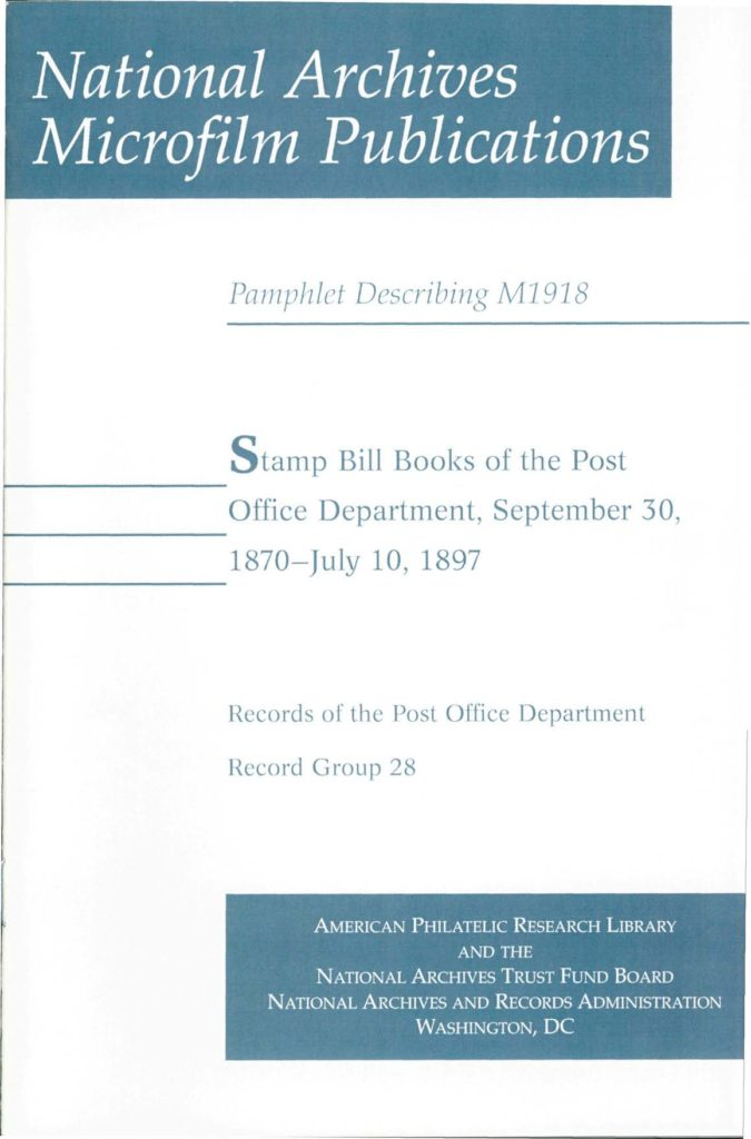 Stamp Bill Books