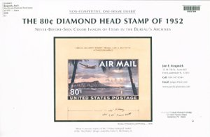 The 80 cent Diamond Head stamp of 1952