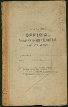 Postmasters' Account and Record Book, 1905-1906