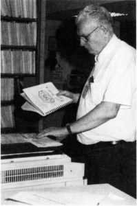 Ronald Martell makes copies in the APRL, June 2001