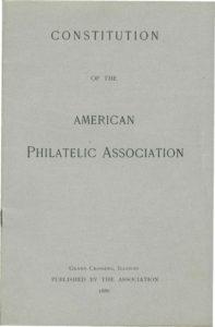 APA Constitution 1886