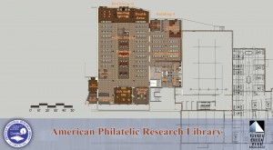 American Philatelic Research Library floor plan