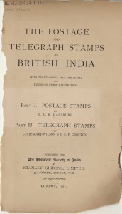 Postage and Telegraph Stamps of British India title page
