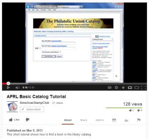 APRL Basic Catalog Tutorial