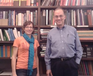 Bruce Marsden and me in the library