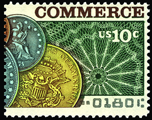 Scott 1578 Banking & Commerce 10c