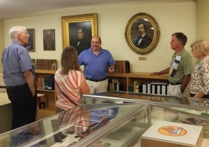 Curator Richard Ring gives an introduction to the Watkinson Library