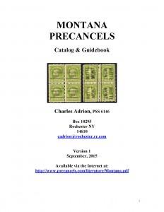 Montana Precancels Catalog & Guidebook 1
