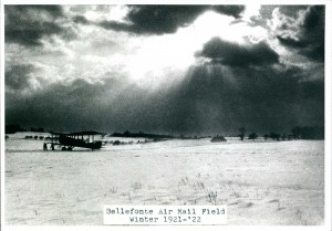 The Bellefonte, PA airfield, ca. 1921-1922. Source: Daniel Hines Air Mail Collection, American Philatelic Research Library.