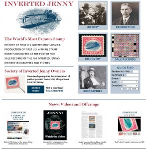 Inverted Jenny website