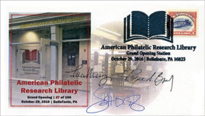 Library Grand Opening cacheted envelope.