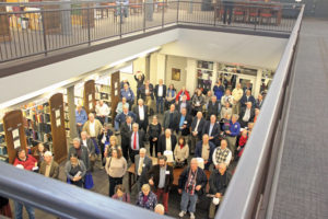 Crowd at the APRL ribbon-cutting event.