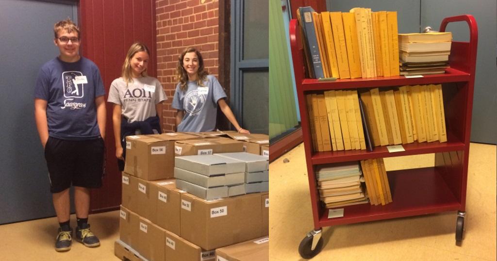 Volunteers unpack Canadian donation